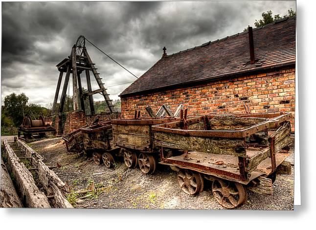Gear Greeting Cards - The Old Mine Greeting Card by Adrian Evans