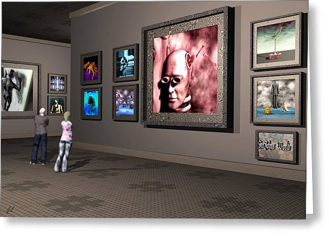 Surrealism Greeting Cards - The Old Museum Greeting Card by John Alexander