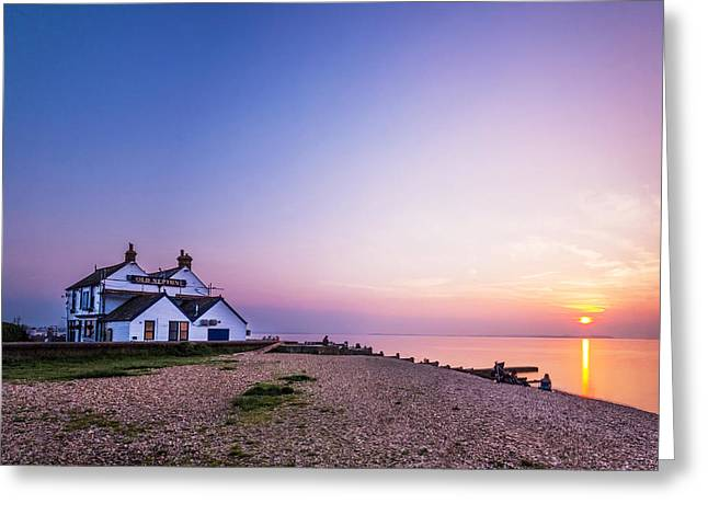 Neptune Greeting Cards - The Old Neptune - Whitstable Beach Greeting Card by Ian Hufton