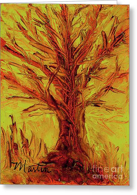 Infertile Greeting Cards - The Old Oak Tree I Greeting Card by Larry Martin