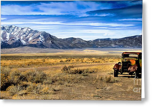 Classic Truck Greeting Cards - The Old One Greeting Card by Robert Bales