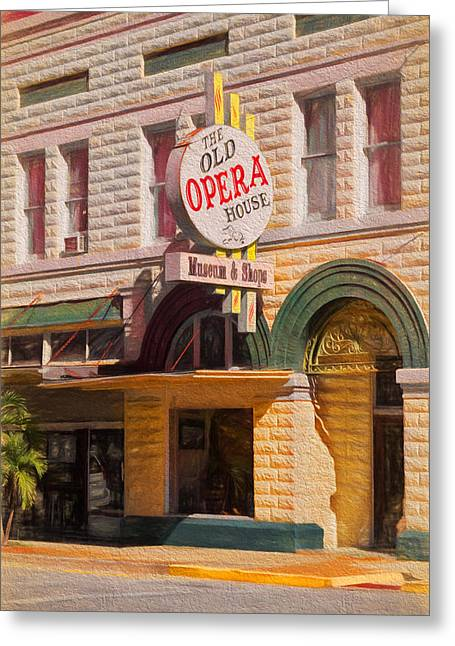 Florida House Greeting Cards - The Old Opera House Greeting Card by Kim Hojnacki