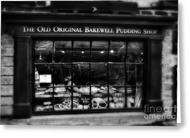 The Old Original Bakewell Pudding Shop Greeting Card by Doc Braham
