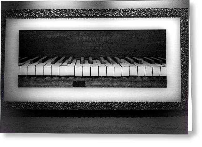 The Old Piano Greeting Card by Dan Sproul
