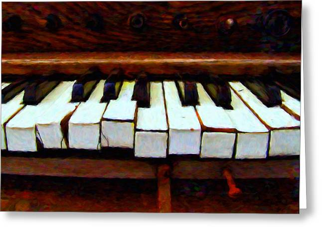 Broken Keys Greeting Cards - The Old Piano Greeting Card by Michael Pickett