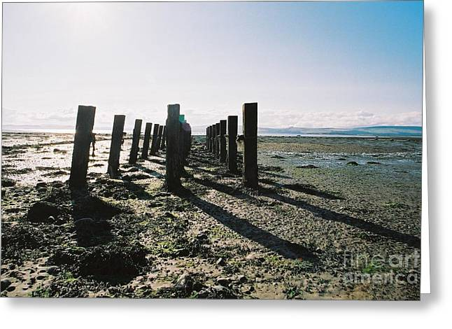 The Old Pier Greeting Card by Nu Art