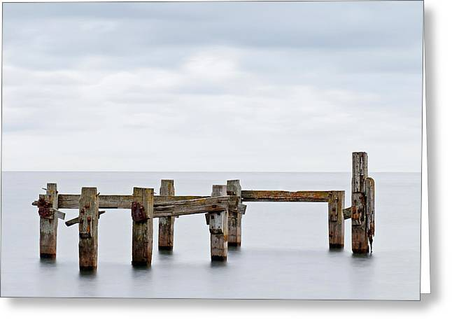 Defiance Greeting Cards - The Old Pier Greeting Card by Richard Thomas