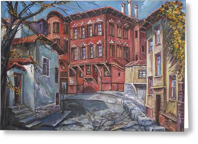 The Old Plovdiv - Autumn Sun Greeting Card by Stefano Popovski