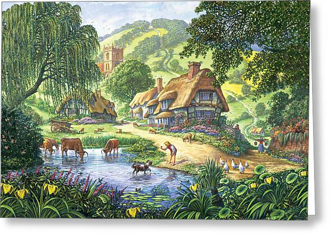 Crisp Greeting Cards - The Old Pond Greeting Card by Steve Crisp
