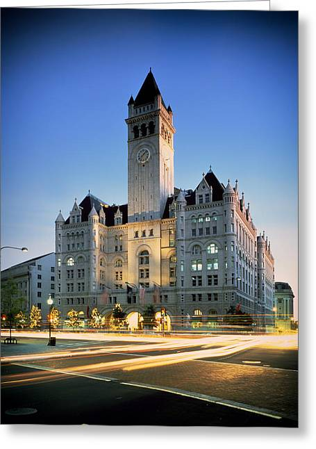 Washington Post Greeting Cards - The Old Post Office - Washington DC Greeting Card by Mountain Dreams