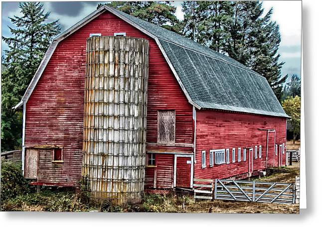 Barn Lots Greeting Cards - The Old Red Barn Greeting Card by Mountain Dreams