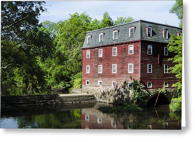 Kingston Digital Greeting Cards - The Old Red Mill - Kingston Mill Princeton New Jersey Greeting Card by Bill Cannon