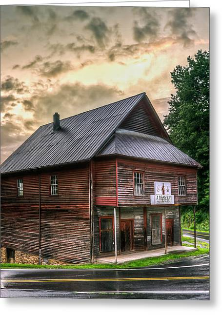 Old Barns Greeting Cards - The Old Red Store  Greeting Card by Jason Penland