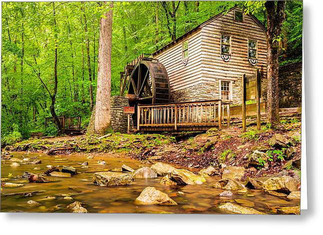 Grist Mill Greeting Cards - The Old Rice Mill in Tennessee Greeting Card by Gregory Ballos