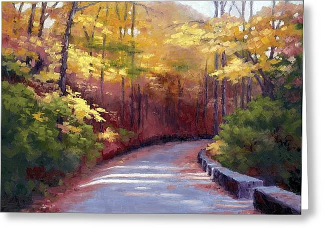 Nashville Tennessee Paintings Greeting Cards - The Old Roadway in Autumn II Greeting Card by Janet King