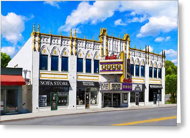 1990s Greeting Cards - The Old Roxy - Atlanta Georgia Landmarks Greeting Card by Mark Tisdale