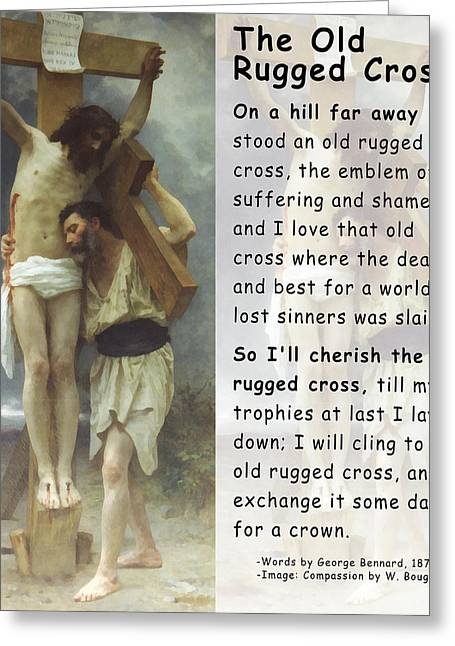 Old Rug Greeting Cards - The Old Rugged Cross Greeting Card by William Bouguereau