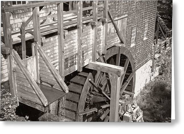 The Old Saw Mill Greeting Card by Edward Fielding