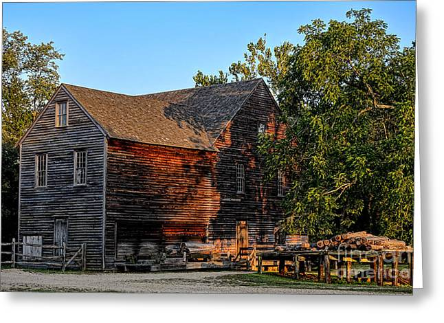 Shingles Greeting Cards - The Old Sawmill Greeting Card by Olivier Le Queinec