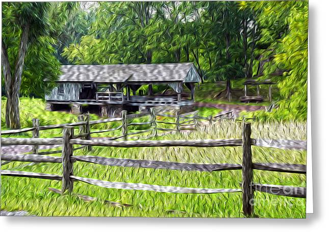 Saw Greeting Cards - The Old Sawmill Greeting Card by Paul W Faust -  Impressions of Light