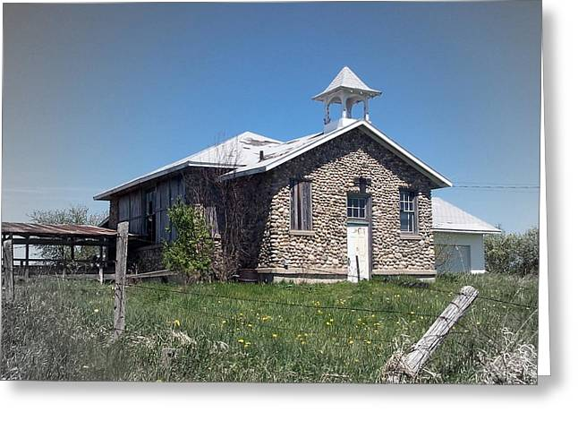 Abandoned School House. Greeting Cards - The Old Schoolhouse Greeting Card by Kathleen Luther
