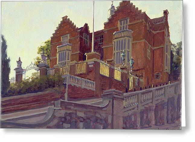 Building Exterior Photographs Greeting Cards - The Old Schools, Harrow Oil On Canvas Greeting Card by Julian Barrow