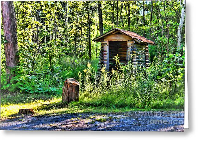 Wood Shed Greeting Cards - The Old Shed Greeting Card by Cathy  Beharriell
