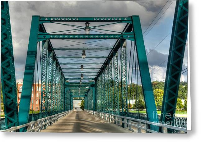 Recently Sold -  - Old Street Greeting Cards - The old Sixth street bridge Greeting Card by Robert Pearson