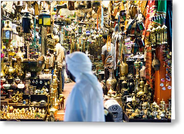 Real People Greeting Cards - The old souk of Muscat - Oman Greeting Card by Matteo Colombo