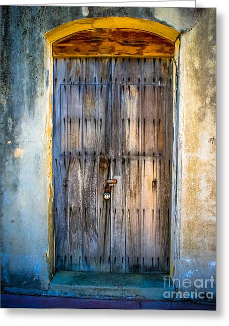 Historical Pictures Digital Art Greeting Cards - The Old Spanish Doorway Greeting Card by Perry Webster