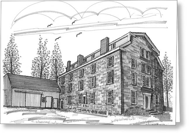 Stone House Drawings Greeting Cards - The Old Stone House Greeting Card by Richard Wambach