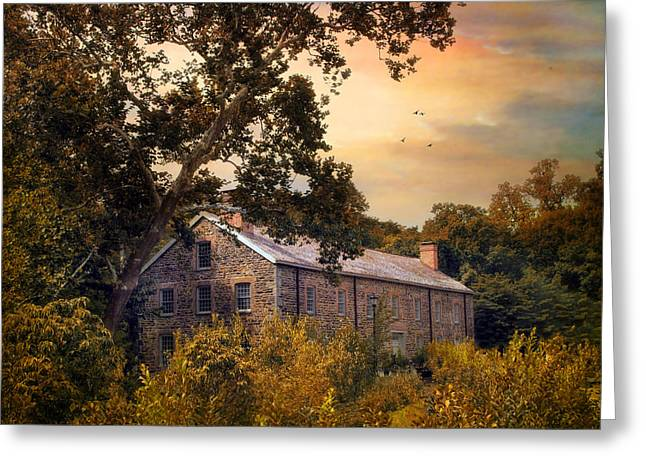 Stones Digital Art Greeting Cards - The Old Stone Mill Greeting Card by Jessica Jenney