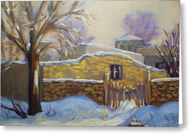 The Old Stone Wall Greeting Card by Robert Martin