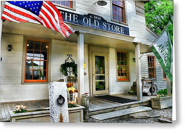 Historic Country Store Photographs Greeting Cards - The Old Store Greeting Card by Diana Angstadt