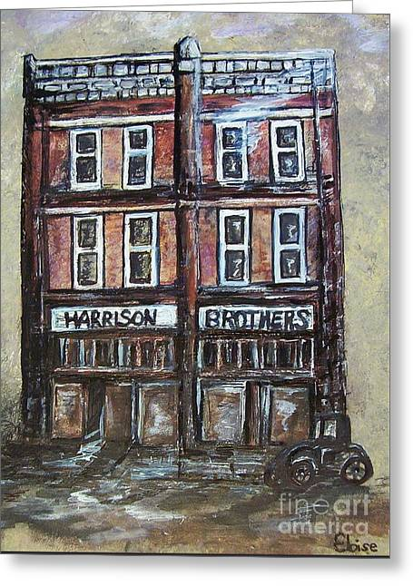 Town Square Drawings Greeting Cards - The Old Store Greeting Card by Eloise Schneider