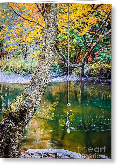 The Old Swimming Hole Greeting Card by Edward Fielding