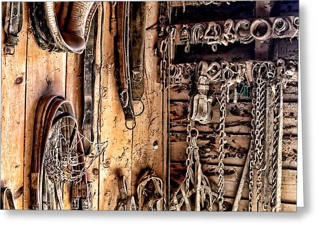 The Old Tack Room Greeting Card by Olivier Le Queinec