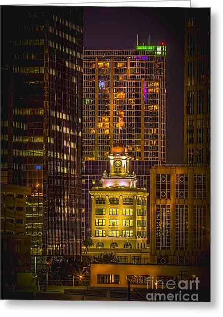 Old Tower Greeting Cards - The Old Tampa City Hall Greeting Card by Marvin Spates