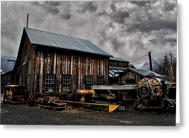 Commercial Photography Pyrography Greeting Cards - The old toll shop Greeting Card by Jack Vainer
