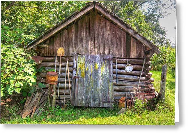 Old Home Place Greeting Cards - The Old Tool Shed II Greeting Card by Lanita Williams