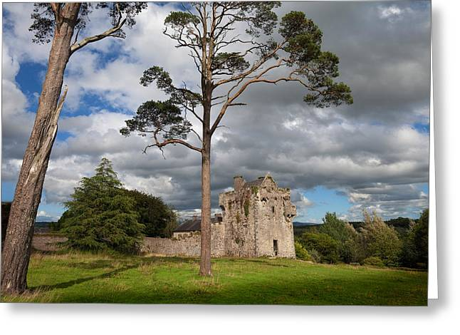 House Garden Greeting Cards - The Old Tourin Castle, County Greeting Card by Panoramic Images