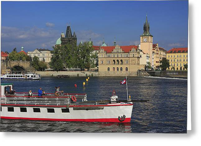 Czechia Greeting Cards - The Old Town and Vltava River Prague Czech Republic  Greeting Card by Ivan Pendjakov