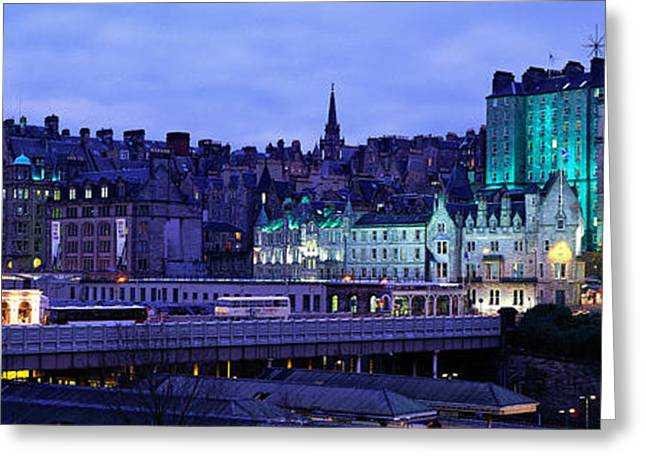 Historic England Greeting Cards - The Old Town Edinburgh Scotland Greeting Card by Panoramic Images