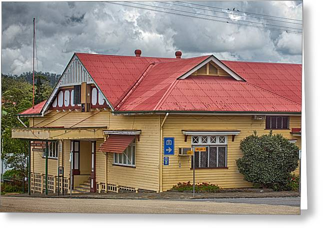Weatherboard Greeting Cards - The old Town Hall Greeting Card by Wendy Townrow