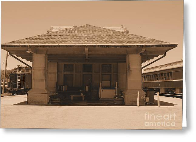French Lick Indiana Greeting Cards - The Old Train Station Greeting Card by Kathryn Smith