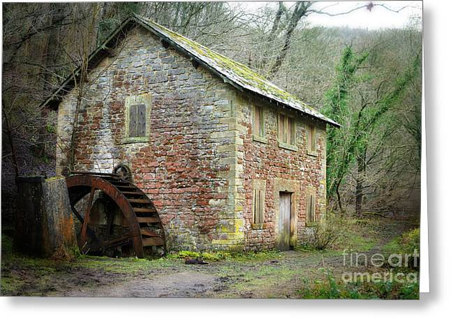 History Derbyshire Greeting Cards - The Old Watermill Greeting Card by David Birchall