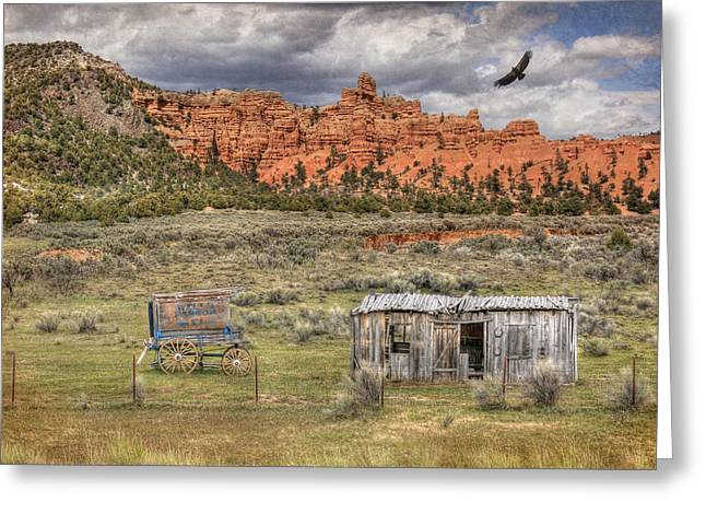 Dilapidated Greeting Cards - The Old West Greeting Card by Lori Deiter