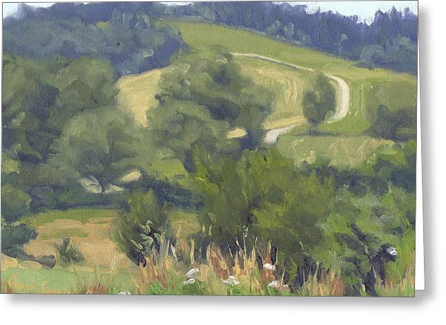 Paysage A L Greeting Cards - The old winding road - Lancienne route sinueuse Greeting Card by David Ormond