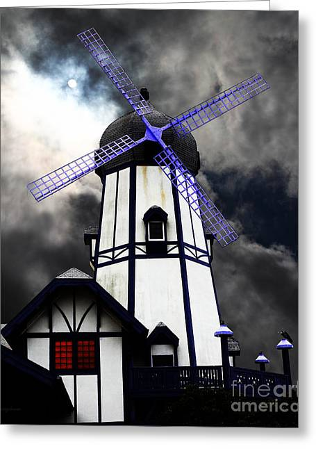 Psychedelic Van Greeting Cards - The Old Windmill 5D24398p50 Greeting Card by Wingsdomain Art and Photography