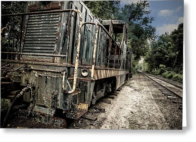Abandoned Train Greeting Cards - The Old Workhorse Greeting Card by Edward Fielding